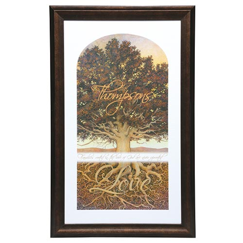 Personalized Family Tree Framed Print - Small at Catalog Classics ...