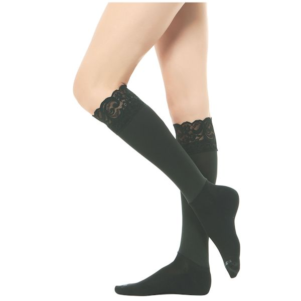3f4910c95 Boot Foot Lace-Top Knee High Socks