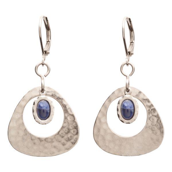 Windowed Sodalite Earrings