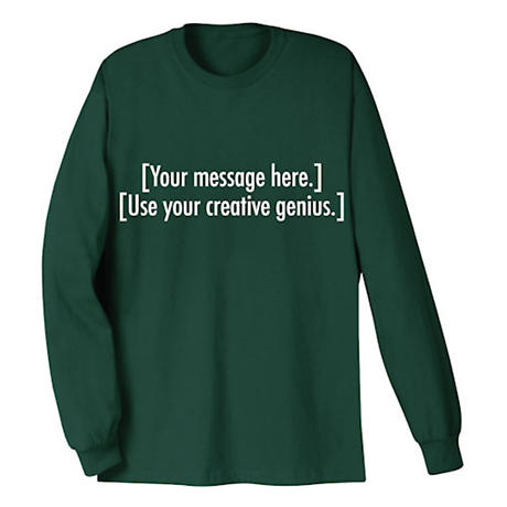 Personalized Custom Shirts with Two Lines of 25 Characters