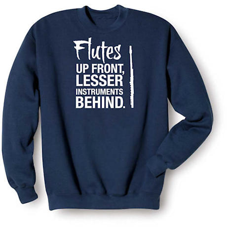 Music Instruction Shirts - Flute