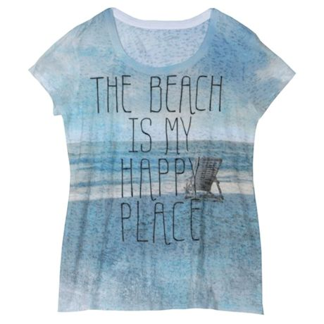 The Beach Is My Happy Place Ladies' T-Shirt