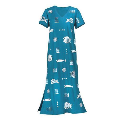 M Mac Rock Fish Maxi Dress