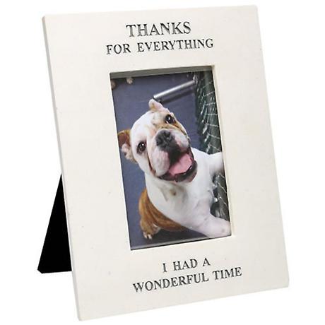 "Memorial Frame for Pet ""Thanks for Everything"""