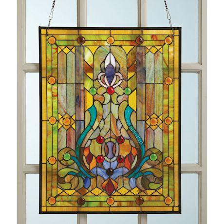 Victorian Style Stained Glass Panel