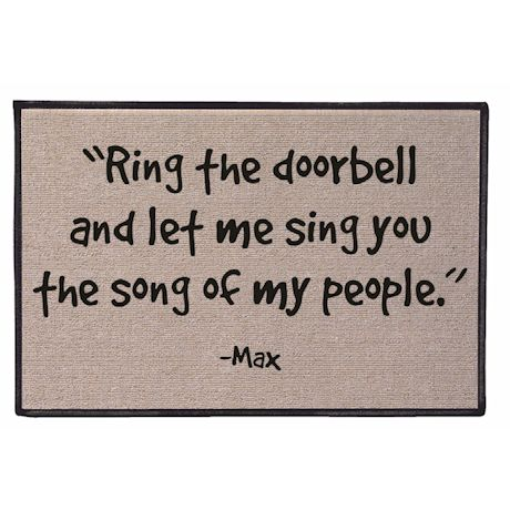Personalized The Song Of My People Doormat