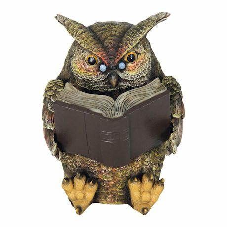 Solar Reading Owl