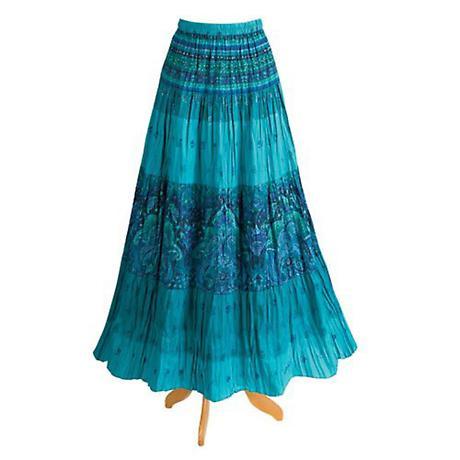 Caribbean Crinkle Maxi Skirt