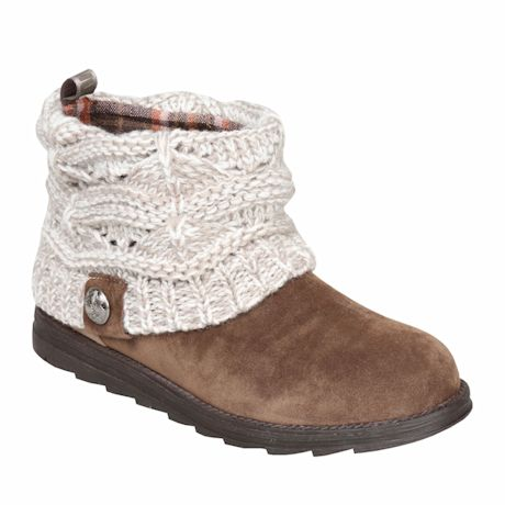Cable Knit Boots with Sweater Cuff