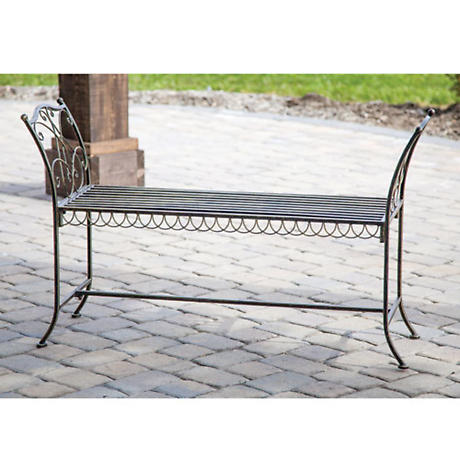 Antique Bronze Garden Bench