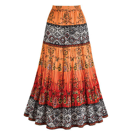 Chesca Coral Crinkle Skirt