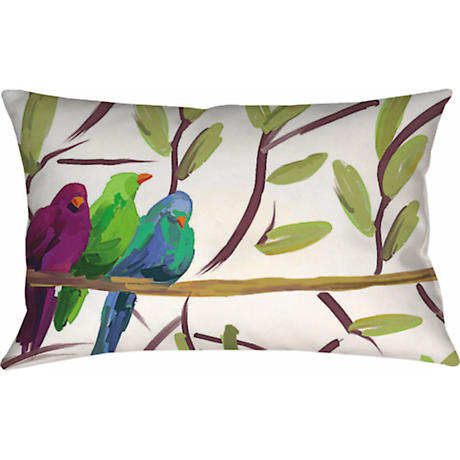 Three Flocked Together Pillow   18x13