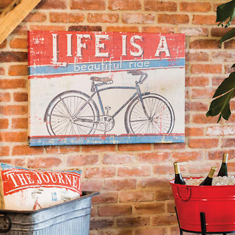 Bicycle Ad Outdoor Stretched Canvas