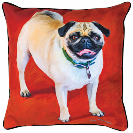 Pug Portrait Pillow