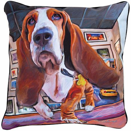 Basset Portrait Pillow