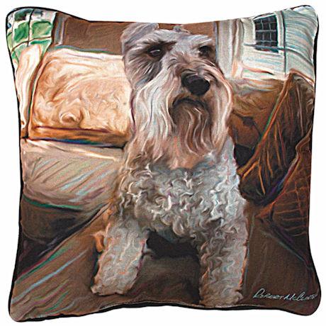 Schnauzer Portrait Pillow
