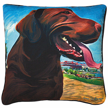 Chocolate Lab Portrait Pillow
