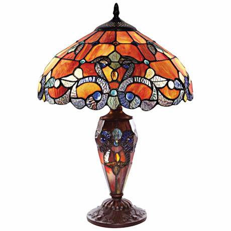 Lake Of The Isles Stained Glass Table Lamp ...
