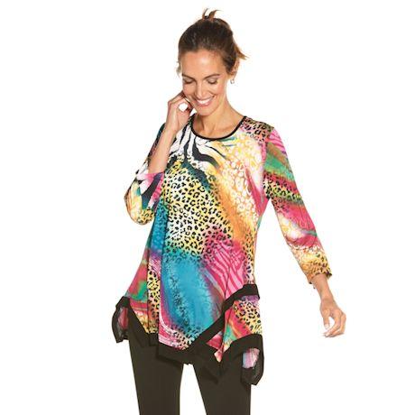 Jungle Brights Animal Print Swing Tunic Top