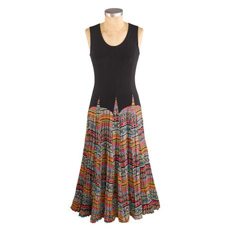 Fabric Mixing Maxi Dress