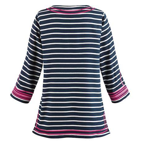 Regal Stripe Embroidered Tunic