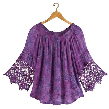 Purple Ombre Festival Crochet Top