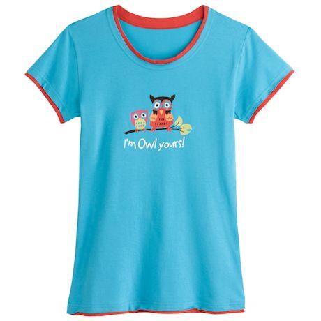 I'm Owl Yours Loungewear - T-Shirt