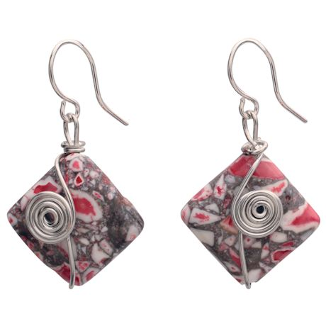 Mosaic Magnesite Earrings