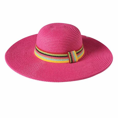 Multi-Color Band Straw Hat