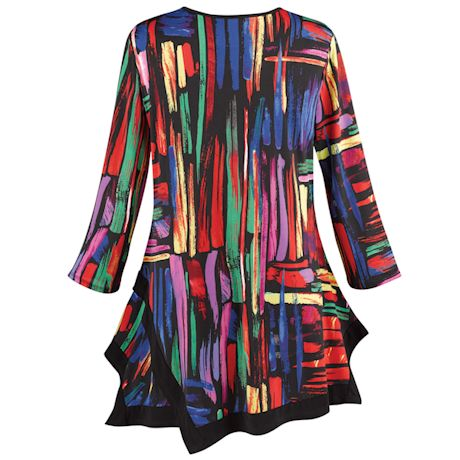 Colors Collide Swing Tunic - 3/4 Sleeve