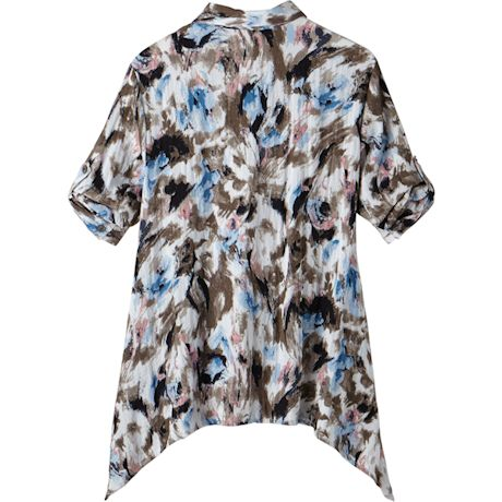 Scattered Leaves Woven Tunic
