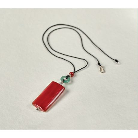 Carnelian Pop Art Pendant