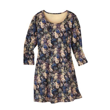 Blue Danube Floral Knit Dress