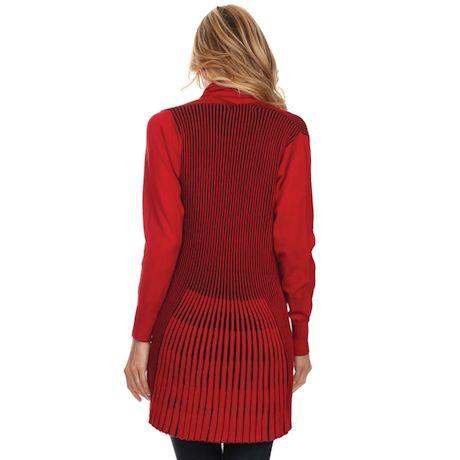 Redstone Fan-Knit Cardigan