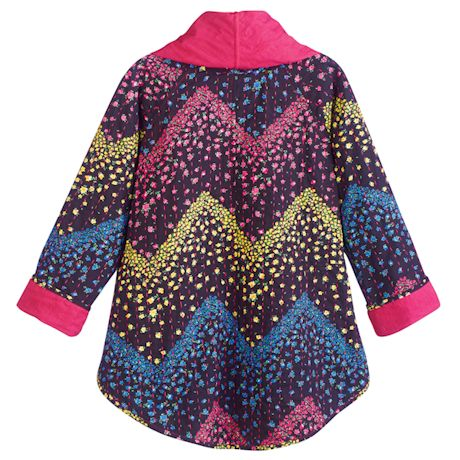 Cherry Pink Reversible Oversized Jacket