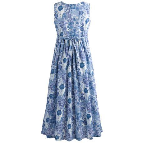 Betty Blue Cotton Maxi Dress