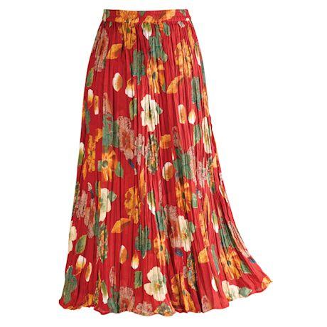 Floral Red/Black Reversible Skirt