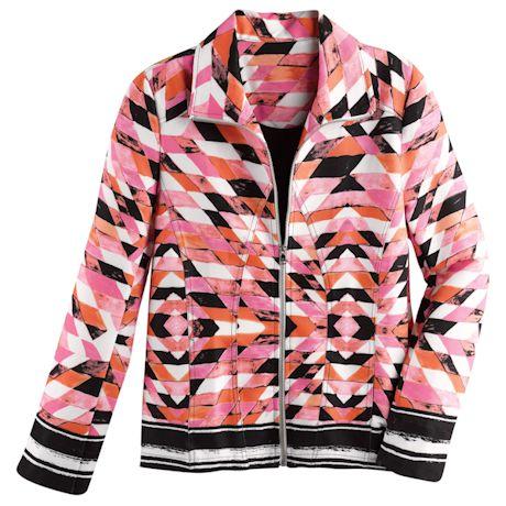 Zip-Front Kaleidoscope Jacket