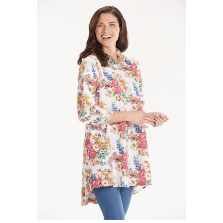 Petunia Button-Front Tunic