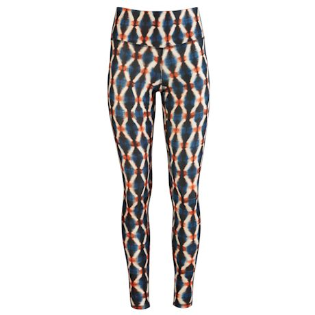 Womens Colorful Print High-Waisted Leggings - Plus Sizes Available