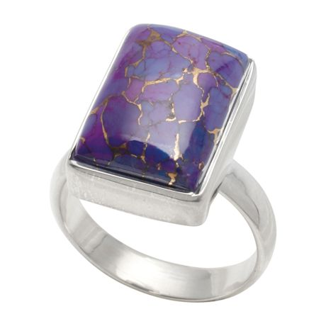 Purple Turquoise & Sterling Ring
