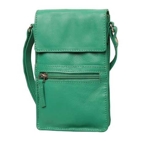 Slimline Leather Crossbody Bag