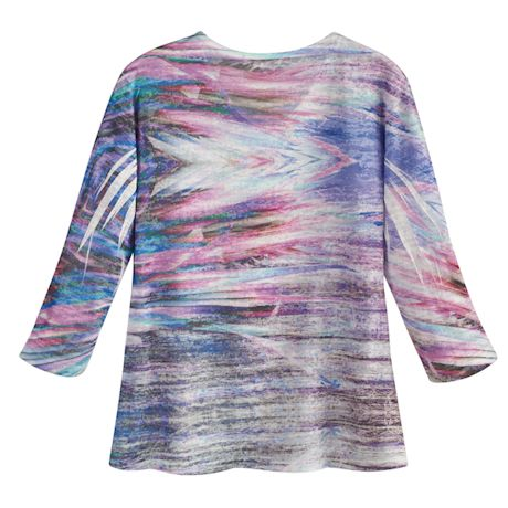 Lilac Marbling Ladies' V-Neck T-shirt