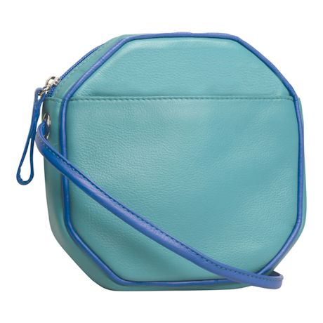 Leather Octagon Crossbody Bag
