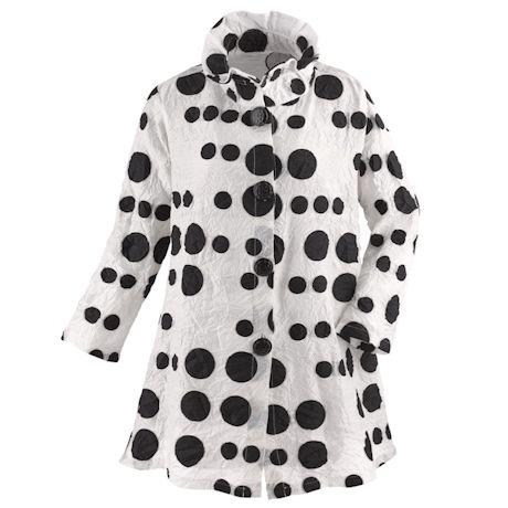 Polka Dot Wire Collar Jacket