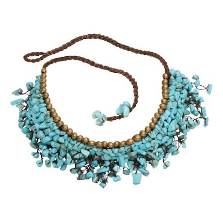 Turquoise Calcite Cluster Necklace