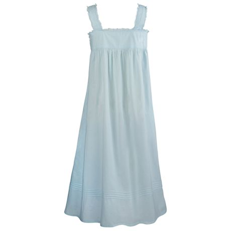 Cotton Lace Chemise with Pockets