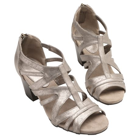 Easy Street® Open Art Heeled Sandal