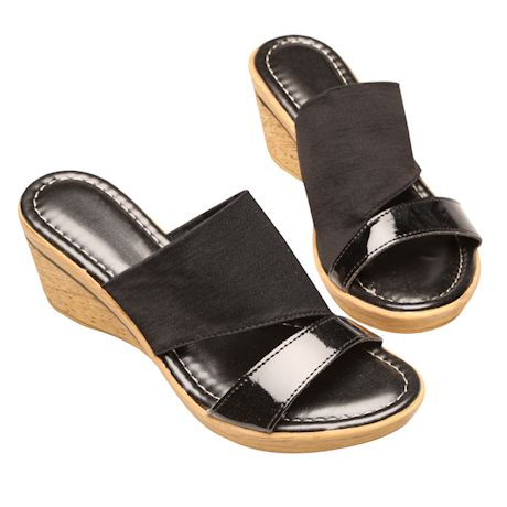 Easy Street® Cork Textured Wedge Sandal