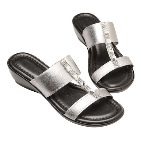 Easy Street® Bejeweled Duo-Strap Italian Sandal